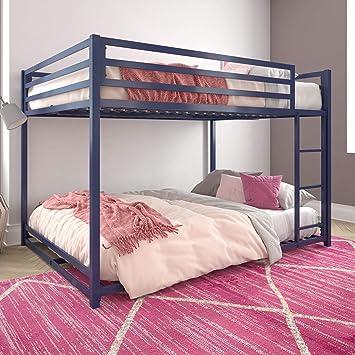 Amazon Com Dhp Miles Metal Bunk Bed Blue Full Over Full Furniture Decor
