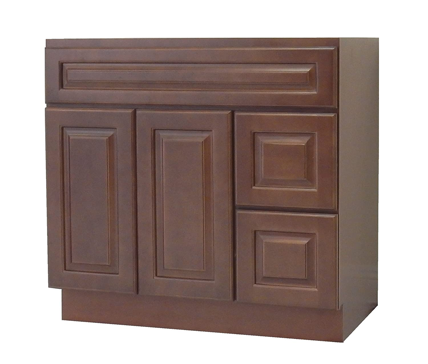 NGY CC-4221DR Chestnut Chocolate Vanity Cabinet Maple Wood - 42 L