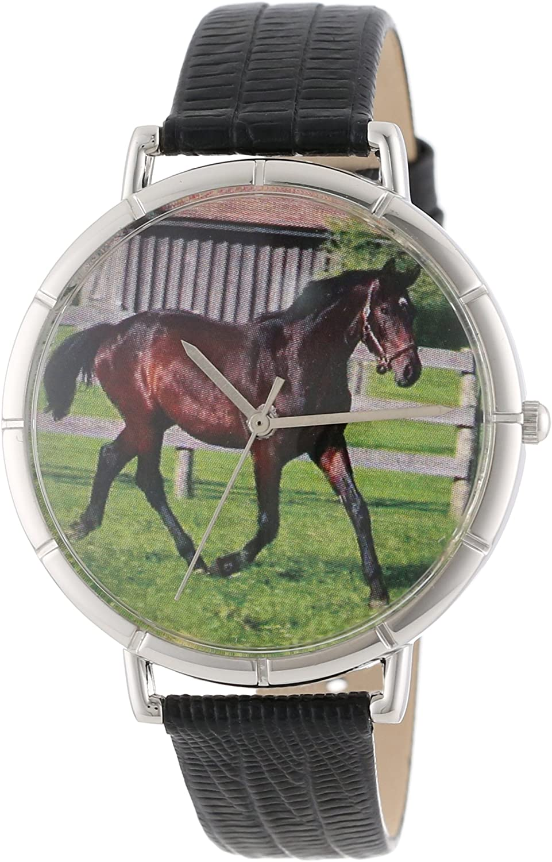 Whimsical Watches T-0110027 - Reloj analógico de Cuarzo Unisex, Correa de Cuero