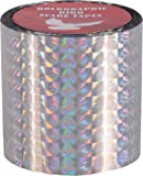 Spick Global Bird Scare Prism Diamond Ribbon Tape - 1 Roll (Silver) Length 150 Ft Width 50 mm