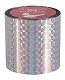 Nastro prisma diamante olografico per spaventare gli uccelli - Fermate i danni e allontanate gli animali nocivi, 5,1 cm; 45,7 m 1 rotolo SGSTMD-002