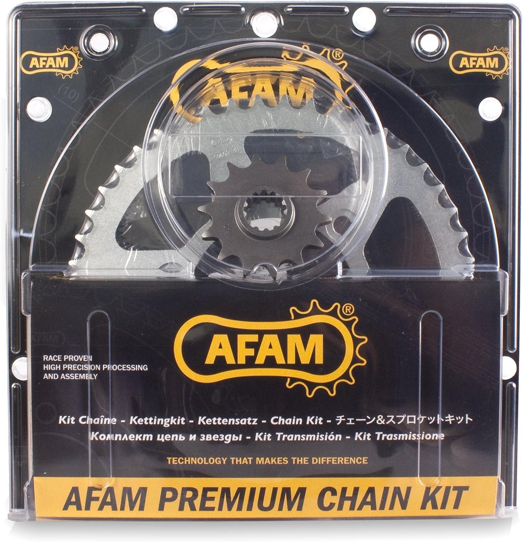 Afam 03801642 Kit cadena de moto (acero) para BETA RR 50 (Motard Normal)(Motard Skull)(Motard Sport)(Motard )(Motard) 2011 - 2016
