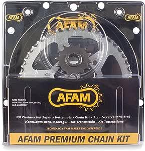 Afam 08001608 Kit cadena de moto para RIEJU RR 50 SM Spike 1999-2002 acero