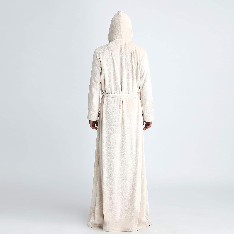 BOYANN Flannel Bathrobe Luxury Cosy Dressing Gowns Full Length Loungewear