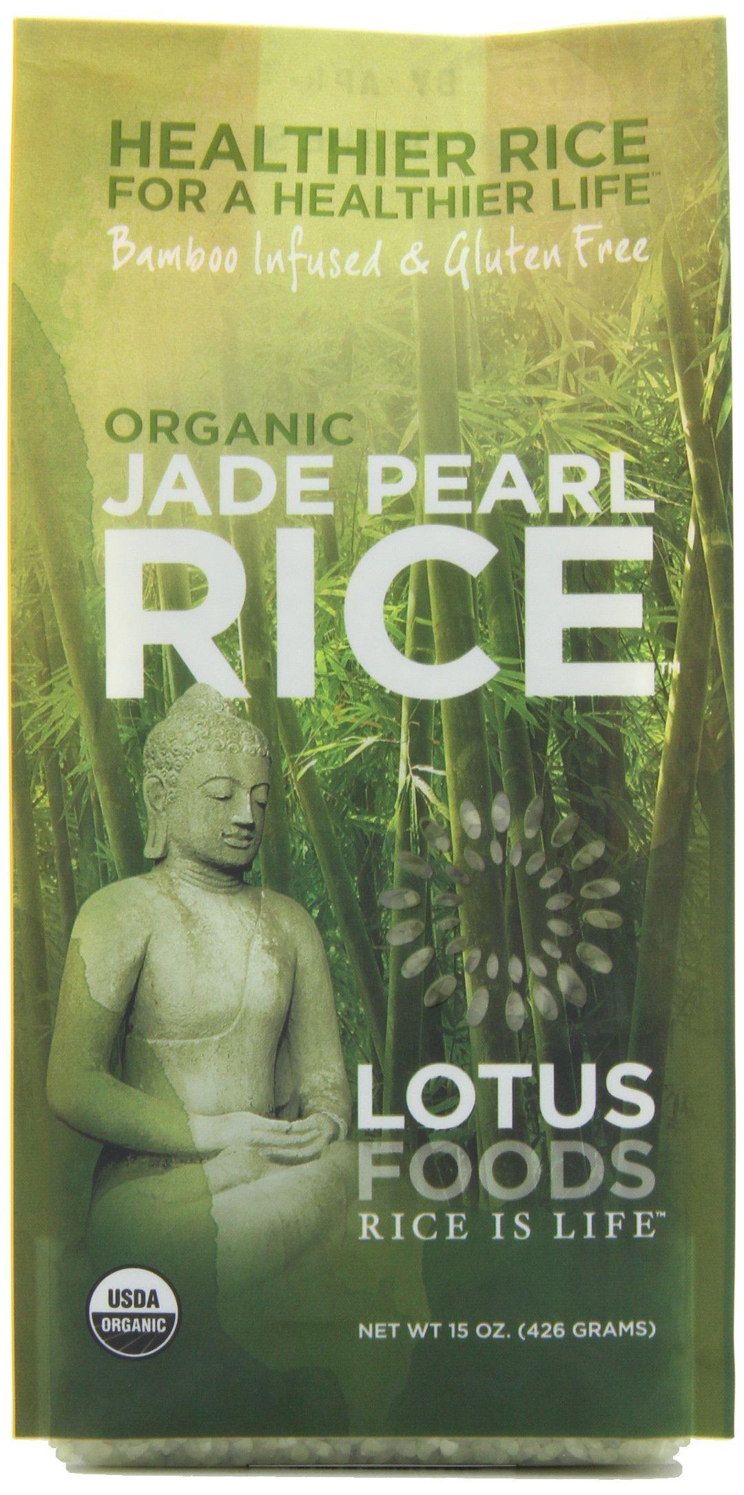 Lotus Foods Organic Jade Pearl Rice, 15-Ounce (Pack of 6)