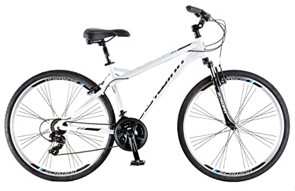 Schwinn Network 3.0 700C Men's Hybrid Bicycle, White/Blue