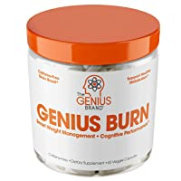 Genius Fat Burner - Thermogenic Weight Loss & Nootropic Focus Supplement - Natural...