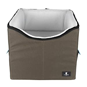 X-ZONE PET Dog Booster Car Seat/Pet Bed at Home, with Pockets and Carrying case,Easy Storage and Portable