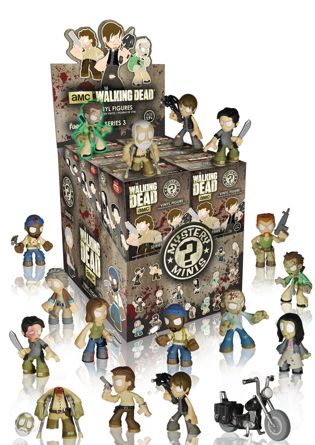 1 Random Pack Only 4768 Accessory Misc Funko Walking Dead Series 3 Mystery Mini Figure Product Toys /& Games