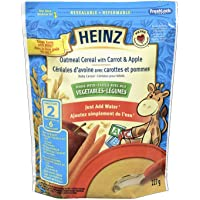 HEINZ Oatmeal Cereal Carrot,  6 Pack, 227G Each