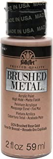 product image for FolkArt Brushed Metal Paint in Assorted Colors (2 oz), Rose Gold