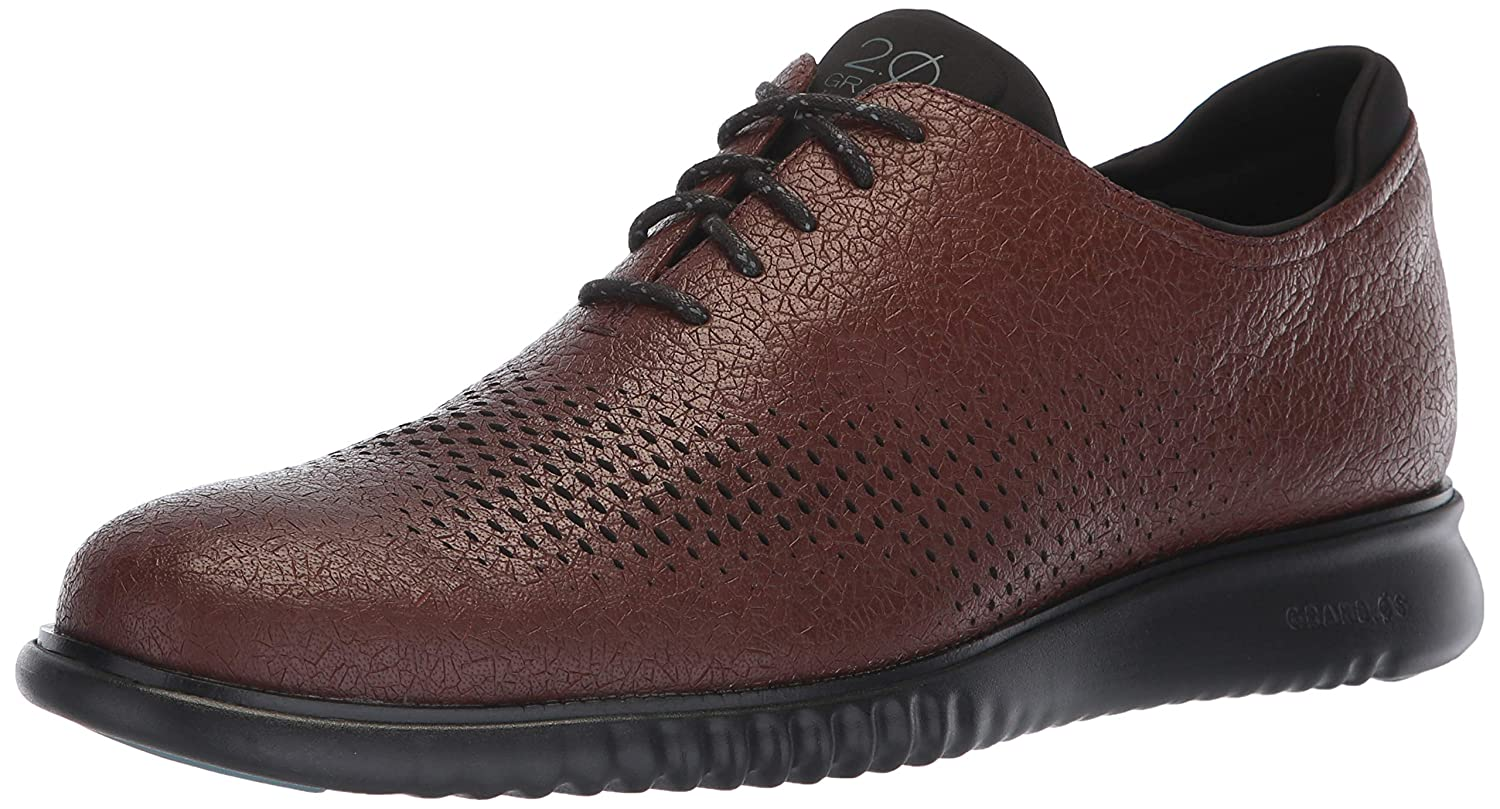 Hickory Textured Leather Black Cole Haan Men's 2.Zerogrand Laser Wing Oxford Oxfords