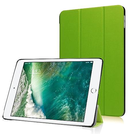 HBorna Funda para Apple iPad Pro 10.5 Case Cover con [Auto Sueño/Estela], Smart Carcasa Funda iPad Pro 10,5 Pulgadas 2017 New Tablet Case Cover, Verde