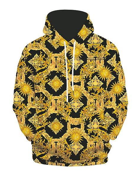factory price a7884 303f0 PIZOFF Unisex Hip Hop Sweatshirts Druck Kapuzenpullover mit Bunt 3D Digital  Print