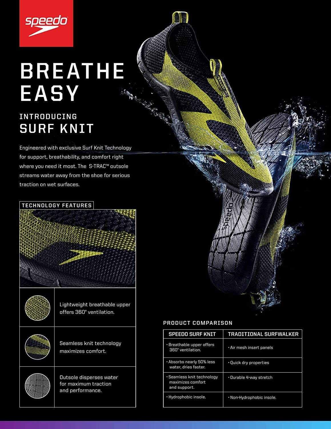 Water Shoe Surf Knit Ultra-Discontinued