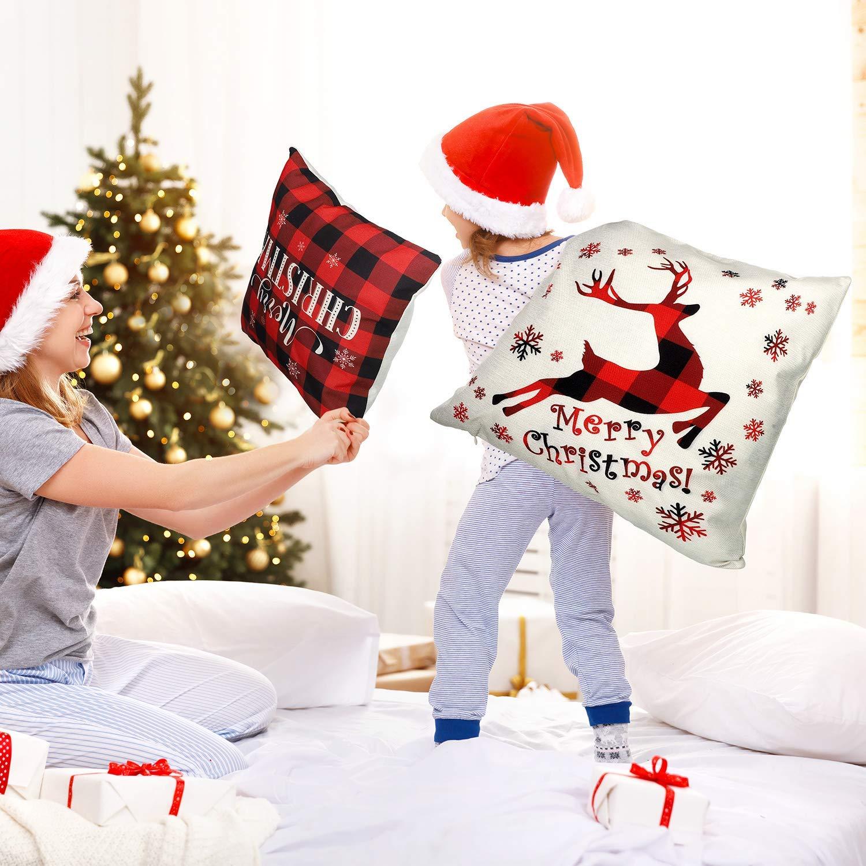 Sunshine smile Funda de Almohada de Navidad,Fundas navide/ñas para Cojines,Funda de Almohada decoraci/ón para hogar,Fundas para Cojines de Sofa,Funda de Almohada Decorativa A