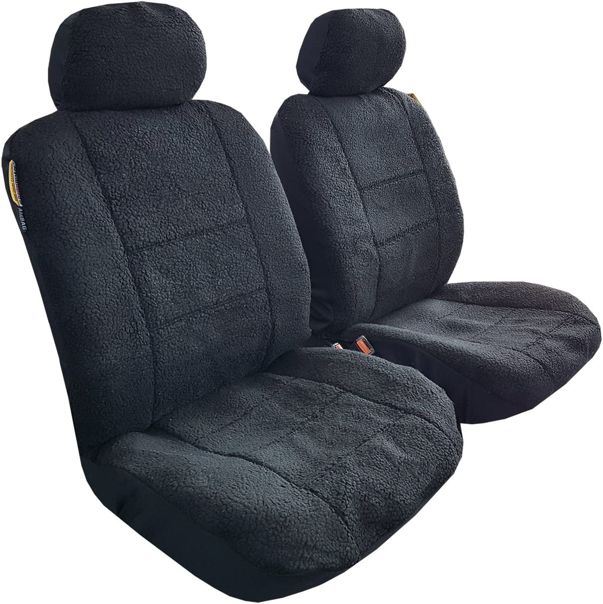 12V 2PCs Heated Car Seat Cover Pad Front Seat Winter Warm Cushion Velvet Thicken