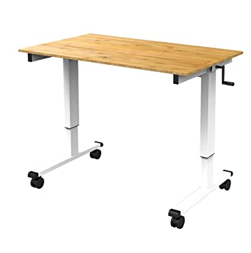 Amazoncom 48 Crank Adjustable Height Standing Desk White Frame