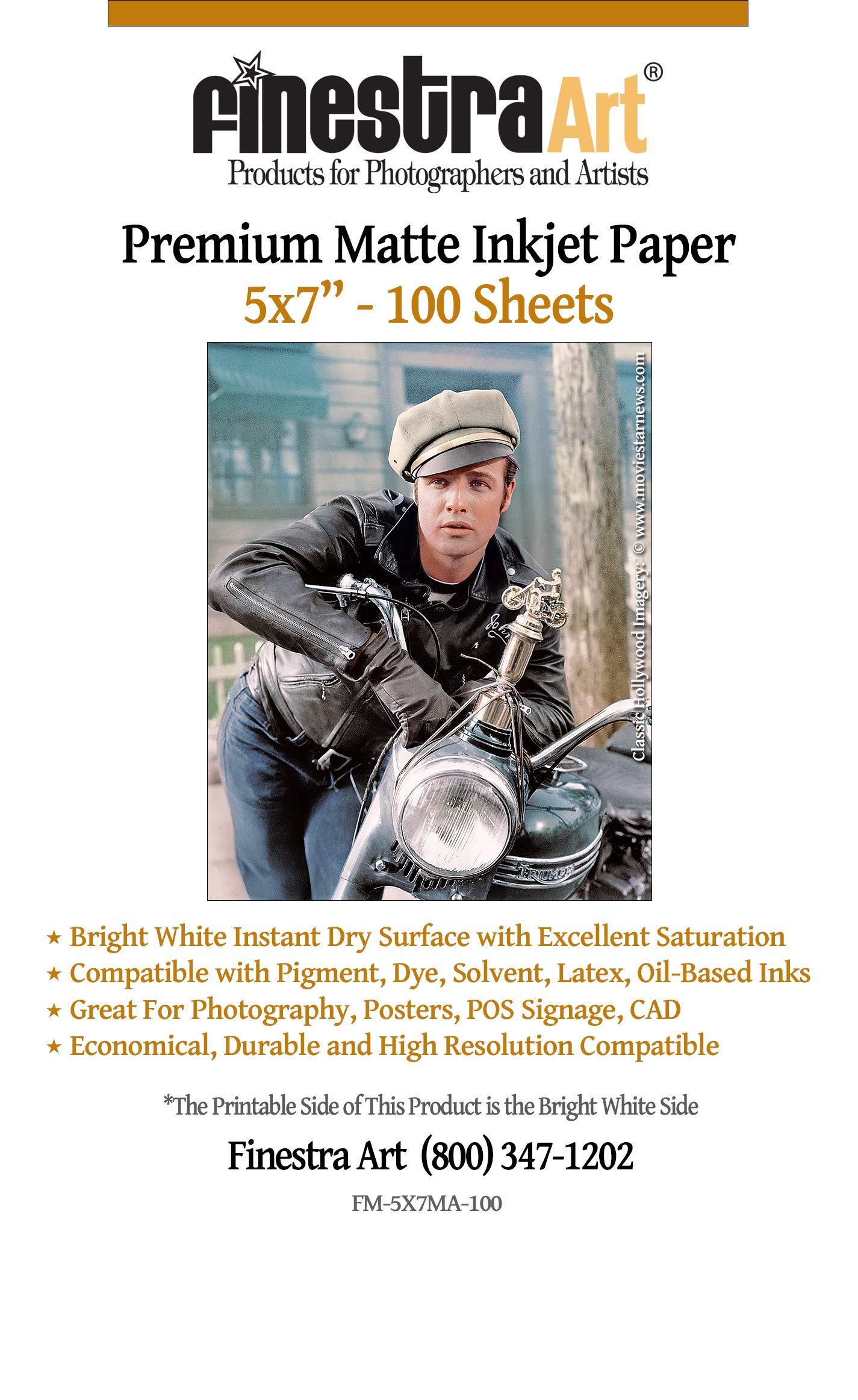 5 x 7 100 Sheets Premium Arctic Matte Inkjet Photo Paper 230gsm