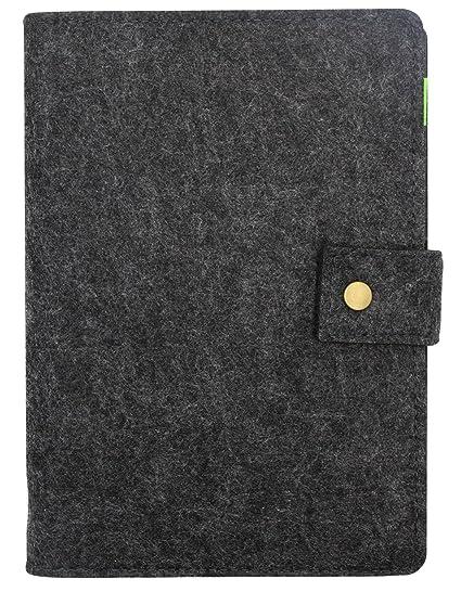 Amazon a5 wool felt cover business notebook refillable writing a5 wool felt cover business notebook refillable writing journal cover with business card pocket pen holder colourmoves