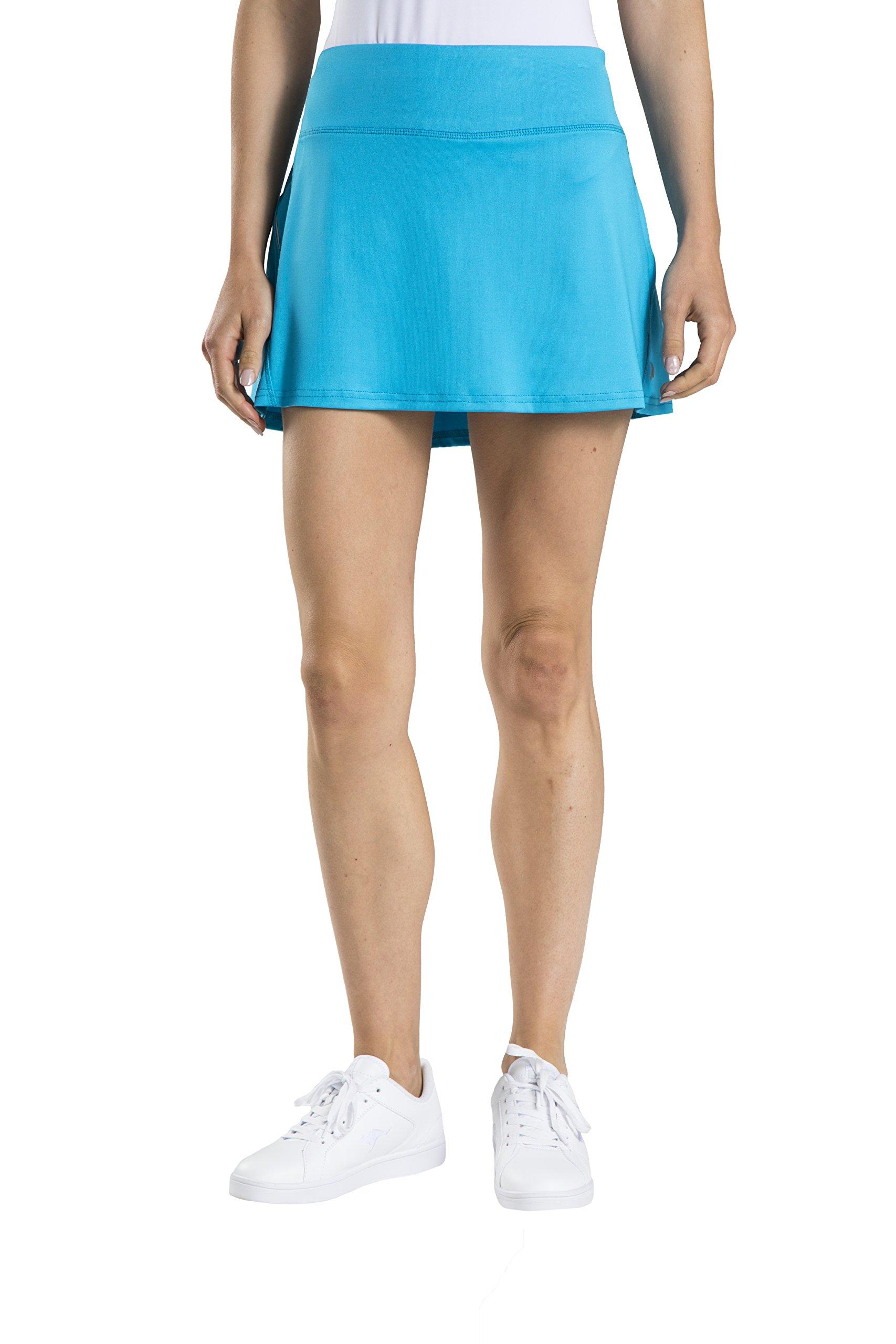 Prince Women's Stretch Knit Mesh Tennis Skort, Atomic Blue, X-Small by Prince