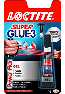 Loctite Super Glue-3 Power Flex, gel adhesivo flexible y resistente, pegamento instantáneo
