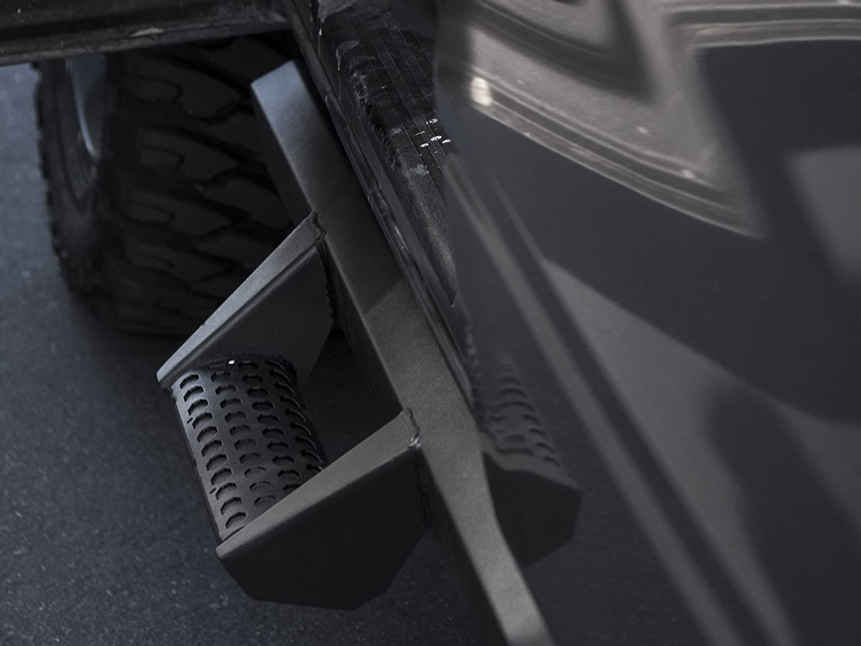 Matte Black Armordillo USA 7169418 AR Drop Steps Fits 2005-2019 Toyota Tacoma Double Cab