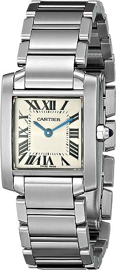 Braceletamp; Boitier Date 20mm Femme Acier Cartier Argent nw0OXP8k