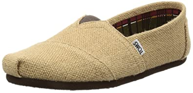 1d185f2a17 Amazon.com | TOMS Men's Classics Burlap Slip-On, Easy On-Off Fit in ...