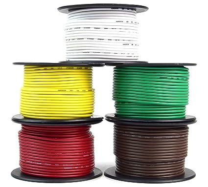 Remolque alambre arnés de cable de luz para 5 Way Cord Calibre 18 ...