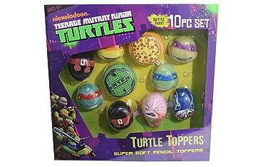 SET 10 TOPPERS TORTUGAS NINJA: Amazon.es: Juguetes y juegos