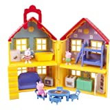 Peppa Pig Playhouse Deluxe Set Play House Figures Toddler Kids Toy Doll Jazwares
