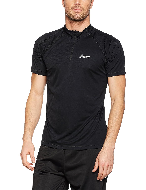 Asics Hombres 1/2 Cremallera Parte Superior Camiseta Corta de ...