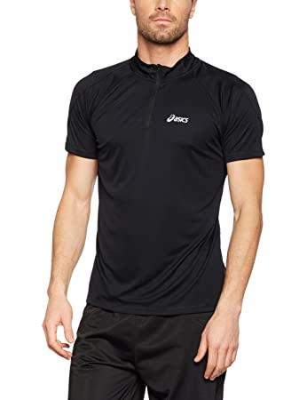 70c935a6304c Asics Men s Shortsleeve 1 2 Zip T-Shirt  Amazon.co.uk  Sports   Outdoors
