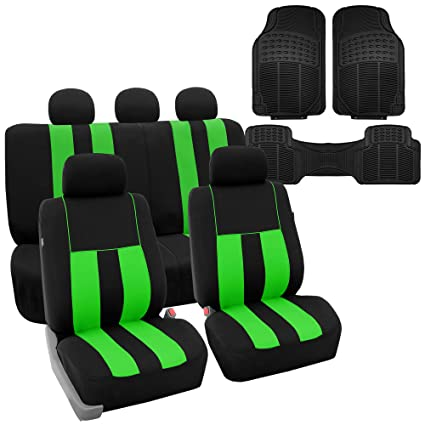 9e21fc6f Amazon.com: FH GROUP FH-FB036115 Striking Striped Seat Covers Airbag ...