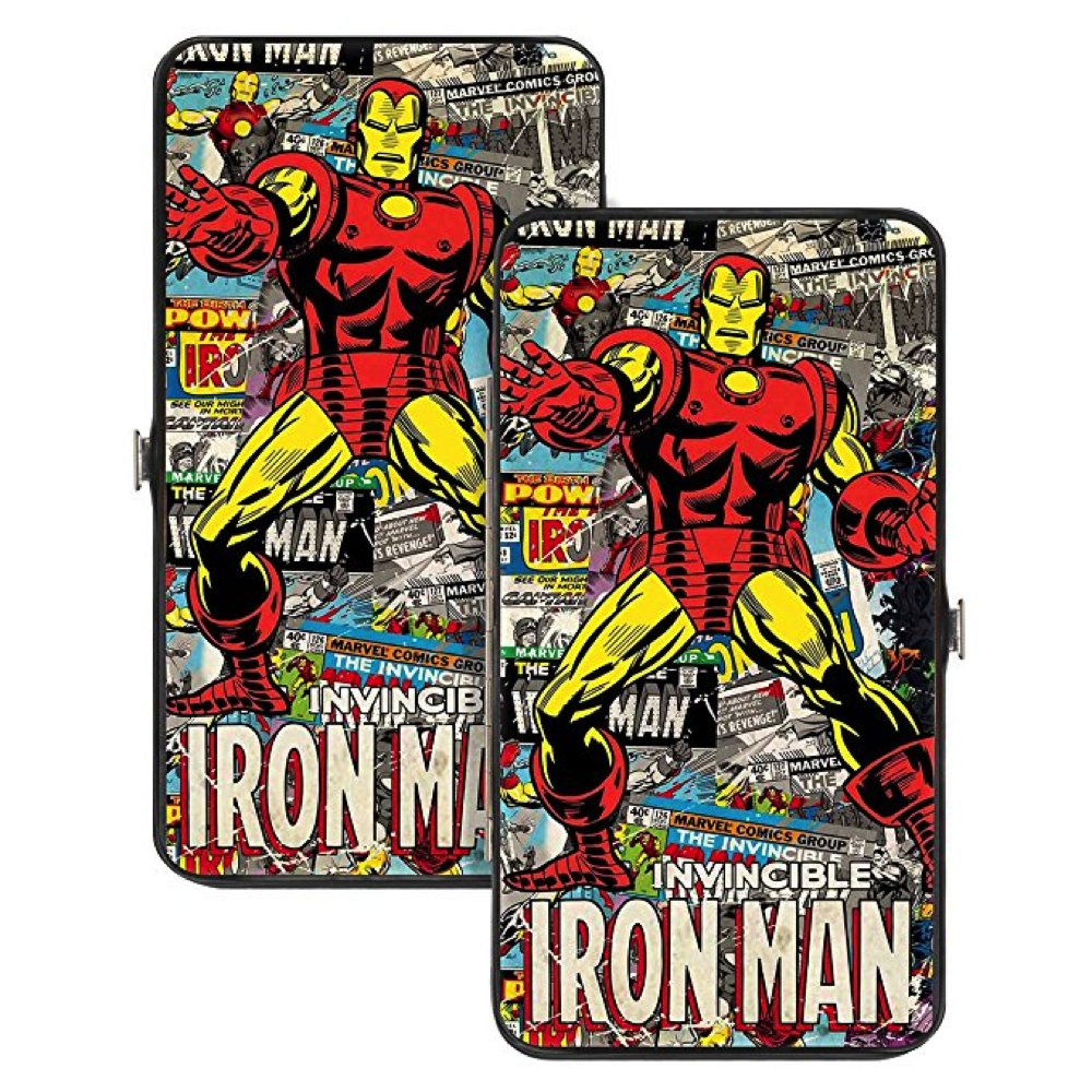 Iron Man Marvel Comics Comic Book Strip Superhero Avengers Hinged Wallet