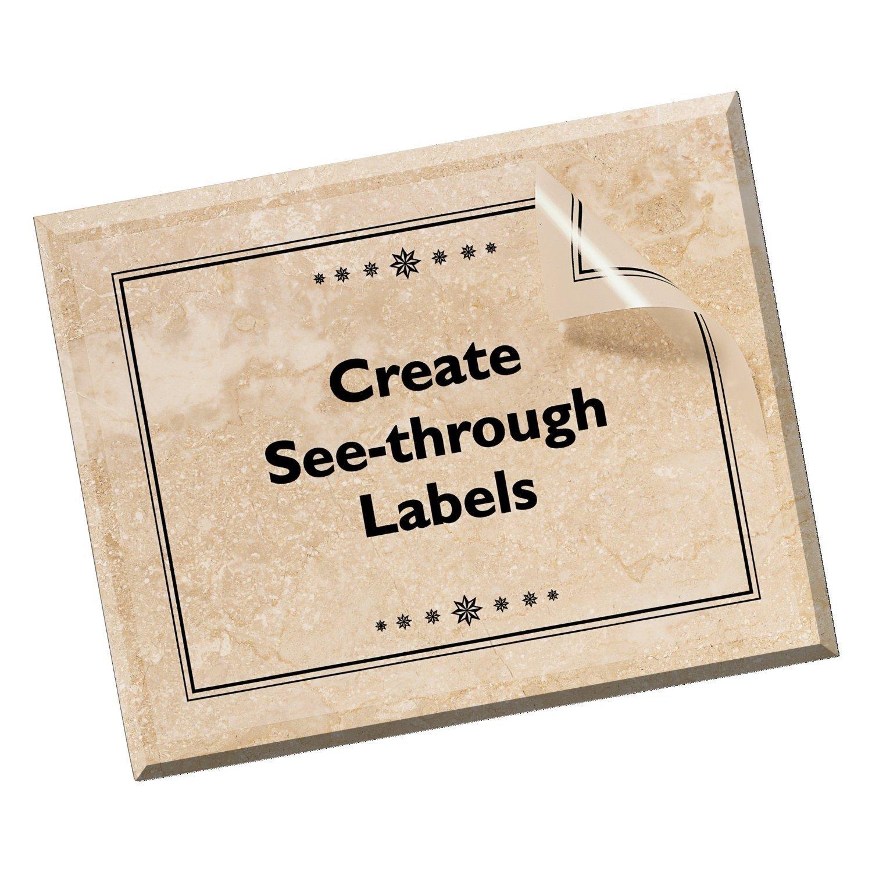 25 Fogli Mr-Label/® trasparente completa fogli rimovibile adesivo Etichette Produzione e conservazione-Laser Solo stampa Trasparente Adesivi impermeabile antistrappo per la cucina Uso