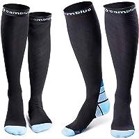 CAMBIVO 2 paar compressie sokken voor vrouwen en mannen, geschikt voor hardlopen, atletische sporten, Crossfit, vlucht…