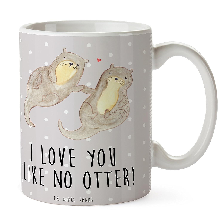 Mr. & Mrs. Panda Tasse Otter händchenhaltend - Otter Seeotter See ...