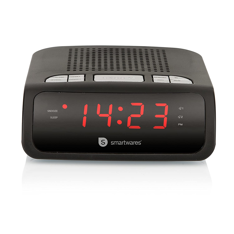 Nero Smartwares CL-1459 Radiosveglia con Radio FM PLL