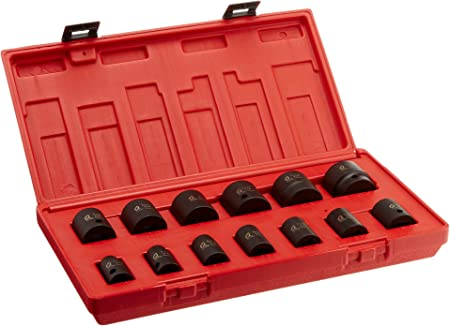 19-Piece Sunex 2640 1//2-Inch Drive SAE Impact Socket Set