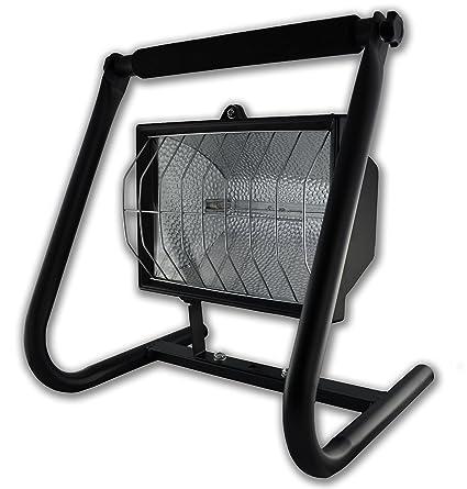 Rolux - Foco proyector halógeno (1000 W, con mano estructura metal ...