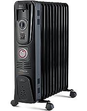 Kambrook 2400w 11 Fin Oil Column Heater, Black - KOH111BLK