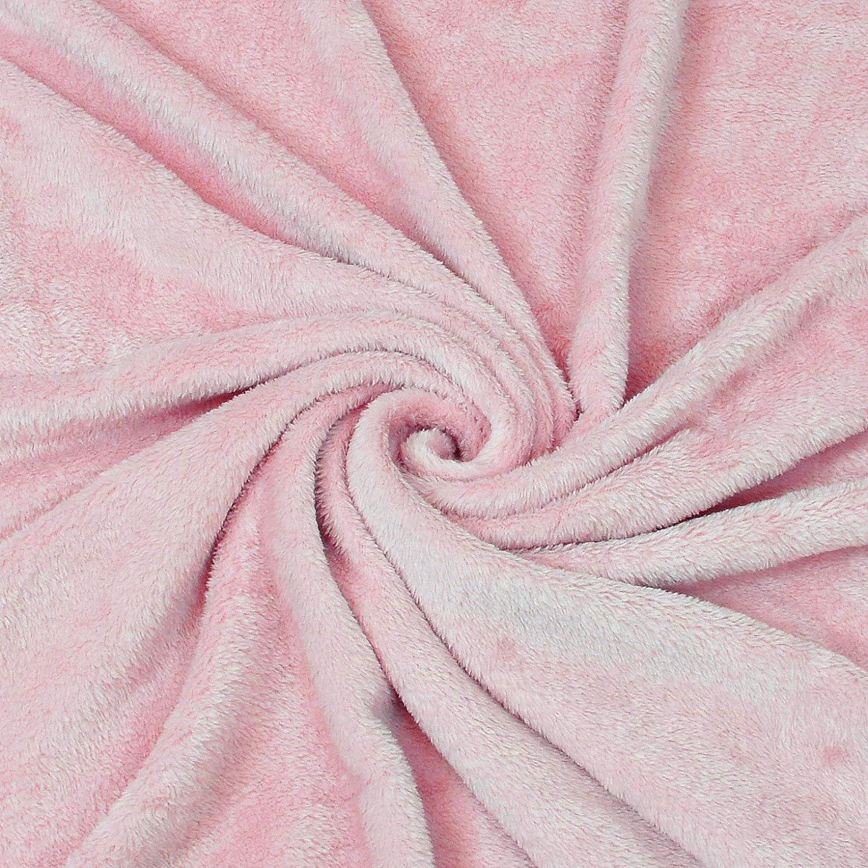 rose 190 x 135 cm couverture polaire ultra douce pour adulte 190 x 135 cm homme femme Microfibre Catalonia Couverture en platine avec manches et poches pour les pieds