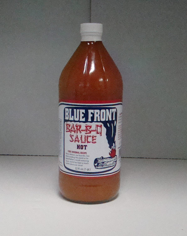 Blue Front Bar-B-Q Salsa (Hot) 32 oz, botella de vidrio ...