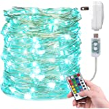 Christmas Fairy Light 33 Feet 100 Led Color Changing String Lights with Remote for Bedroom Wedding Holiday Decoration 16…