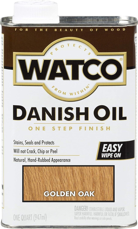 Watco 242210 Danish Oil Wood Finish, Low VOC, Quart, Golden Oak