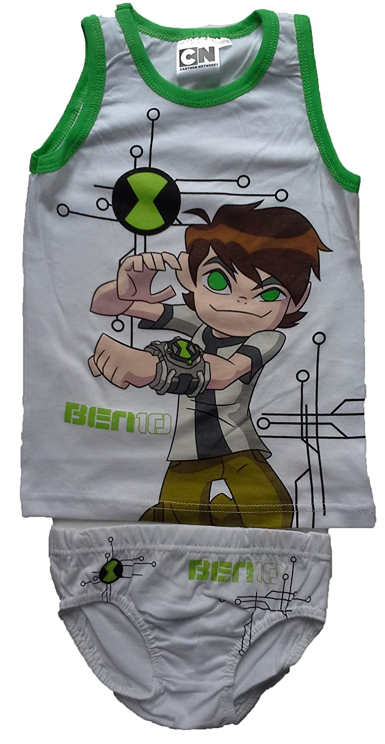 Ben 10 Vest and Pants / Briefs / Slips / Underwear Set Boys Cotton 2 - 7 Years