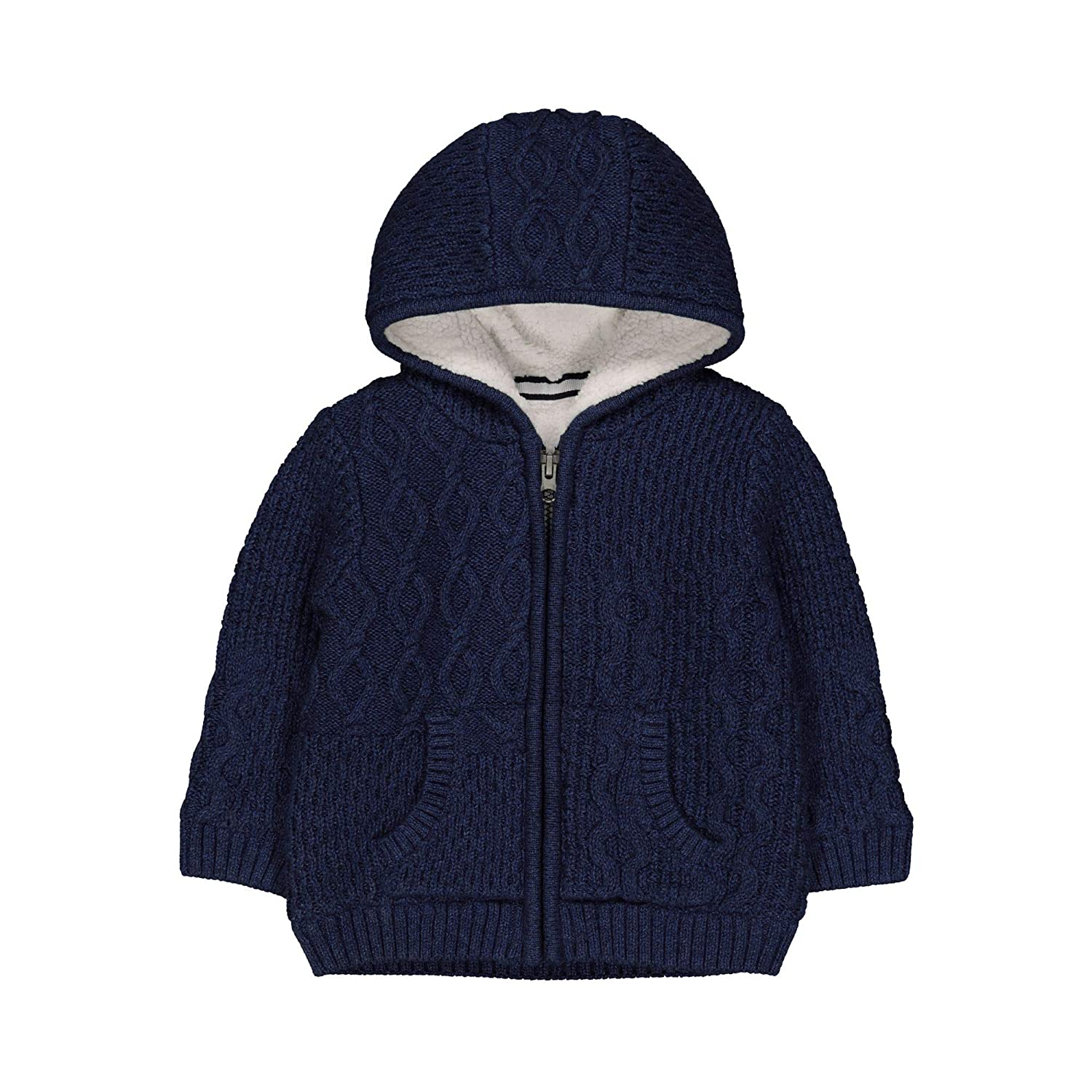 Mothercare Navy Knit Borg Long Cardi, Cardigan Bimbo QA187