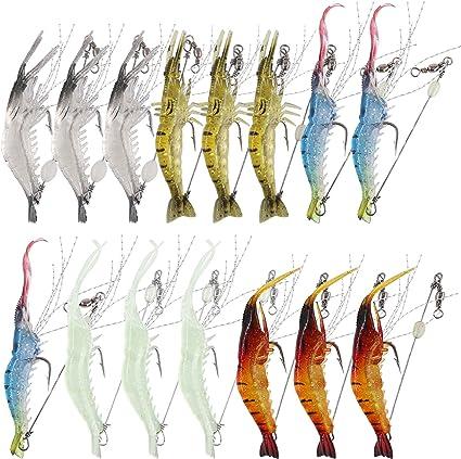 Shrimp Fishing Lure Luminous Shrimp Bait Sea Fishing Tackle for Freshwater